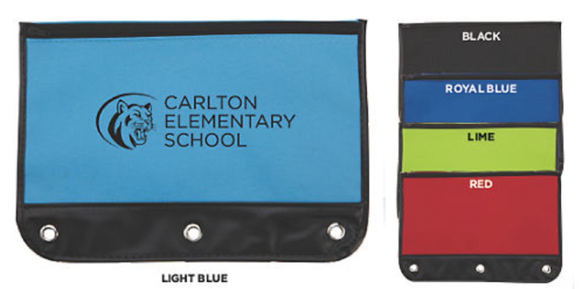 150 Personalized Varsity School Pouch Imprinted with Your Logo or Message