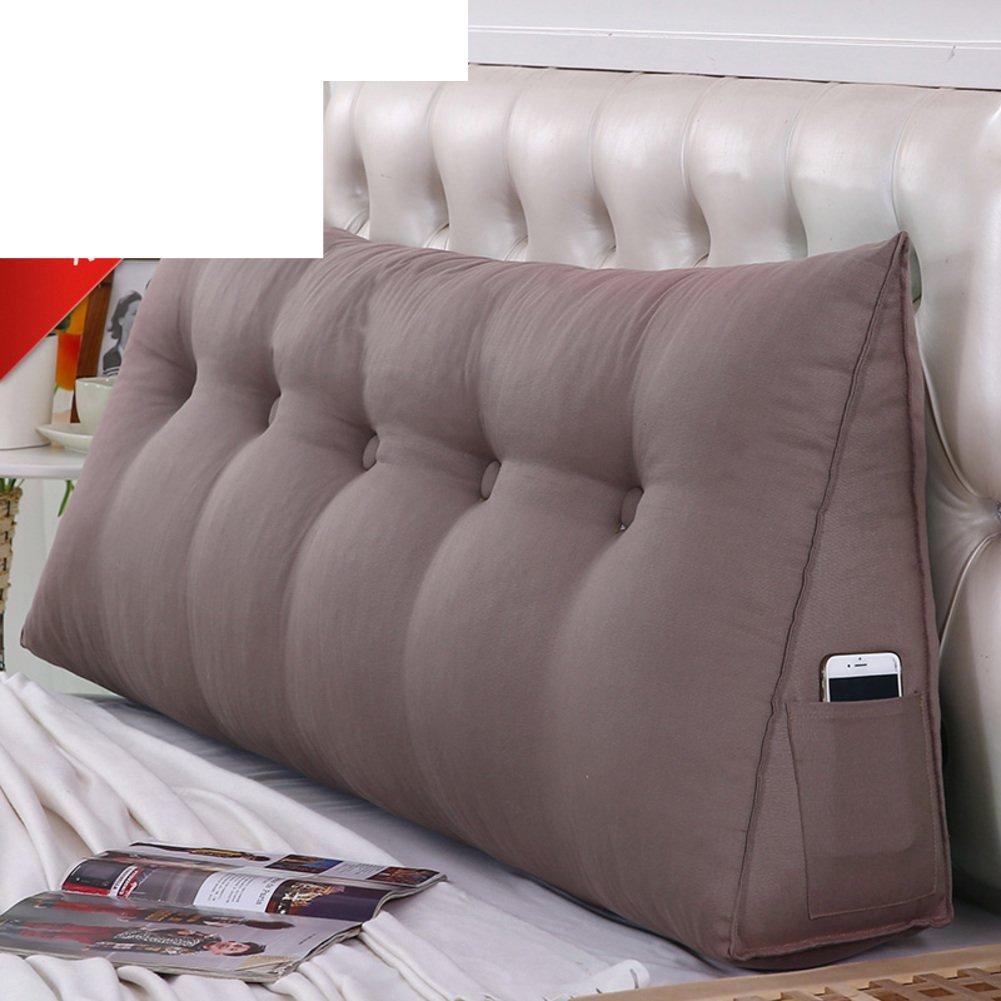 JGXVUYKDFV Bed triangle big cushion/double backrest/tatami pillow/belt pillow/removable pillow-K 50x50x20cm(20x20x8)