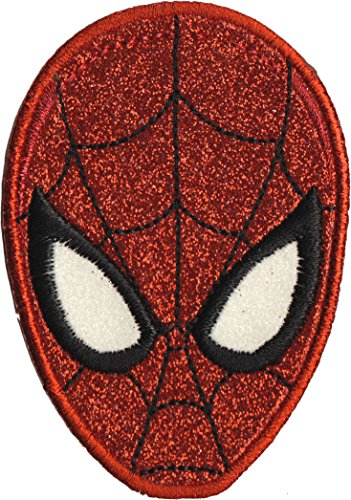 Application Classic Spiderman Mask Glitter Patch