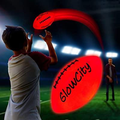 GlowCity Light Up LED Football-Youth Size-Better for Smaller Hands: Toys & Games