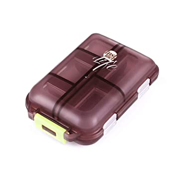 Shuxy Organizador portátil de viajes Recordatorio de medicamentos y recetas Pastillero Dispensador Envase de los tornillos de la joyería, 10 compartimentos, ...