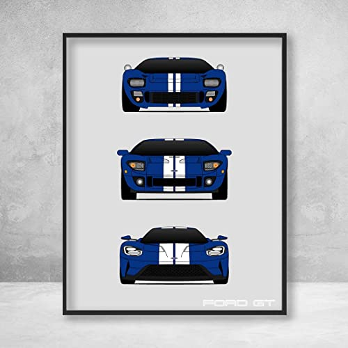 Ford Gt Poster Print Wall Art Of The History And Evolution Of The Ford Gt