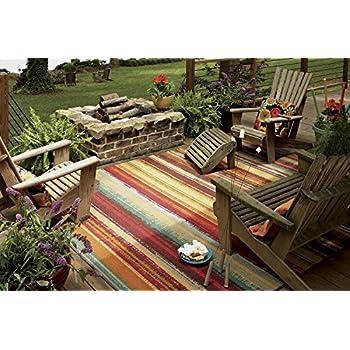 c811dcadb2f Amazon.com  Mohawk Home Avenue Stripes Indoor  Outdoor Printed Area ...