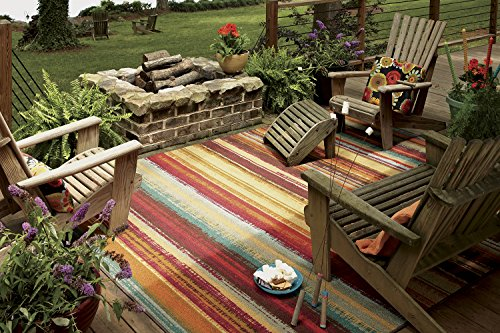 Mohawk Home Avenue Stripes Indoor/ Outdoor Printed Area Rug, 5'x8', ()