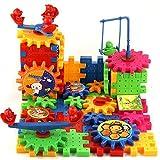 Electric Building Blocks Toys Plastic Animals Assembling Blocks Bricks Gear Sets Educational Construction Toy Set for Children Kids Boys Girls