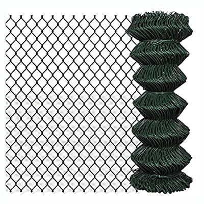 """K&A Company Fence Panel, Chain Fence 3' 3"""" x 82' Green"""