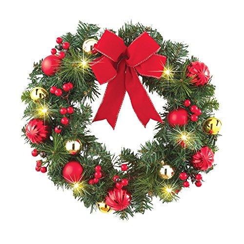 Lighted Festive Jingle Bells Wreath