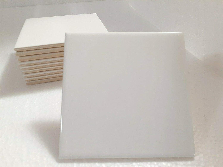 6x6 in Ceramic Tile White Daltile Color 0100 Subway Square 6 x 6 inch Gloss 10 Piece Box