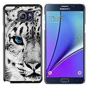 Leopardo de nieve- Metal de aluminio y de plástico duro Caja del teléfono - Negro - Samsung Galaxy Note5 / N920