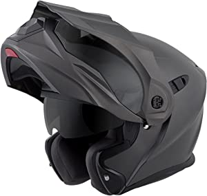 ScorpionEXO Unisex-Adult Modular/Flip Up Adventure Touring Motorcycle Helmet (Anthracite, Large) (EXO-AT950 Solid)