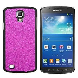 For S4 Active I9295 (Do Not Fit S4) - purple glitter plastic pattern texture clean /Caja protectora de pl???¡¯????stico duro de la cubierta Dise???¡¯???¡Ào