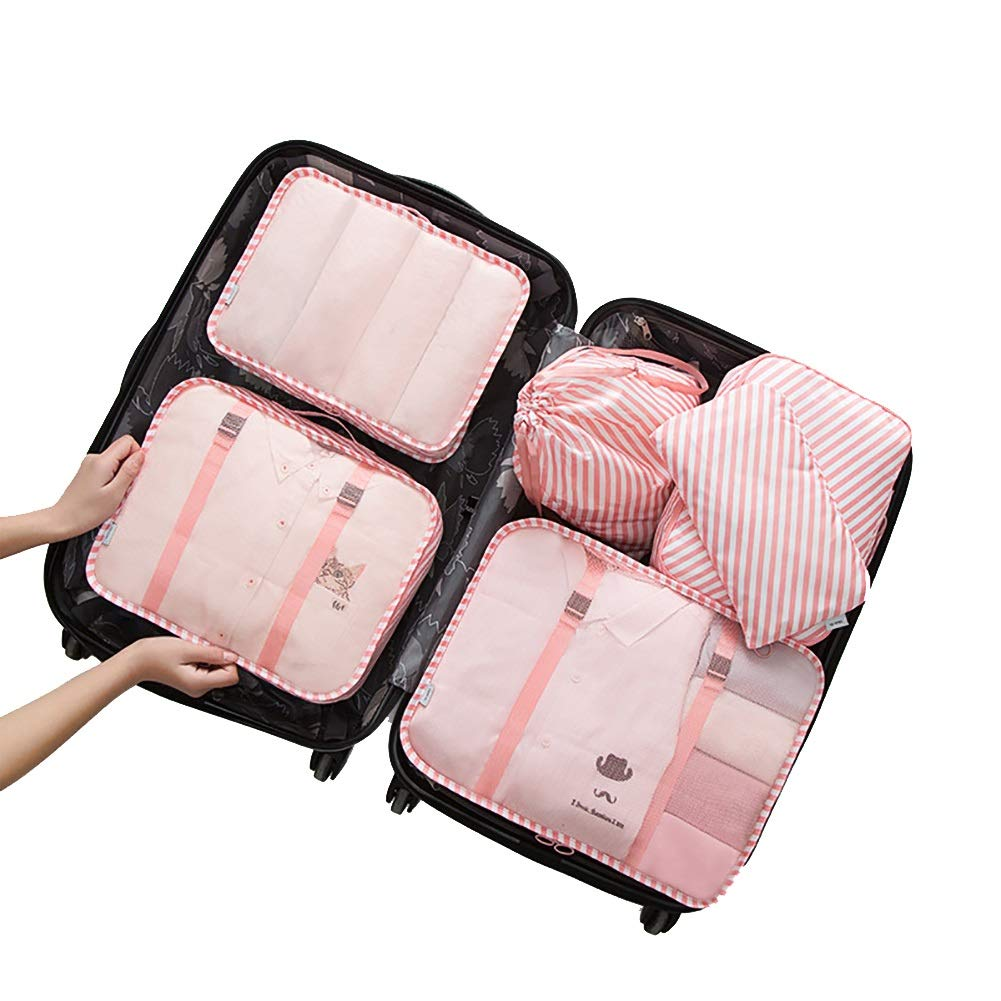 6 pcs Luggage Packing Organizers Packing Cubes For Travel Grey AC007GY