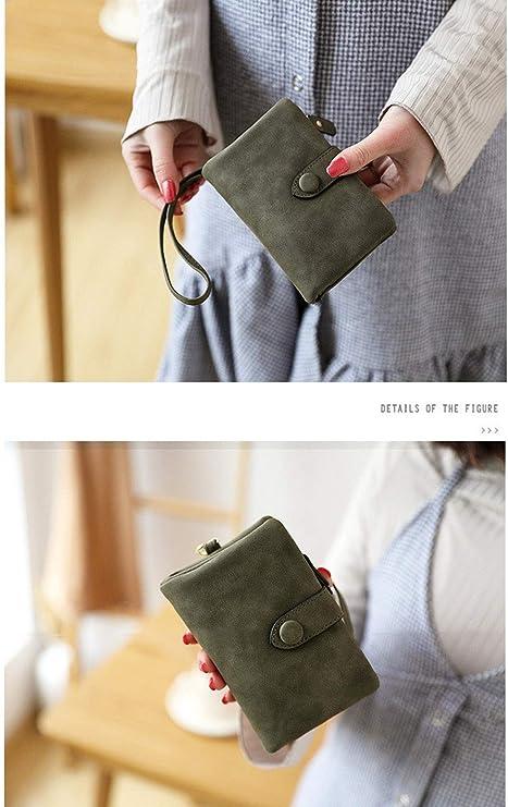 Amazon.com: Monedero de piel con bloqueo RFID para mujer ...