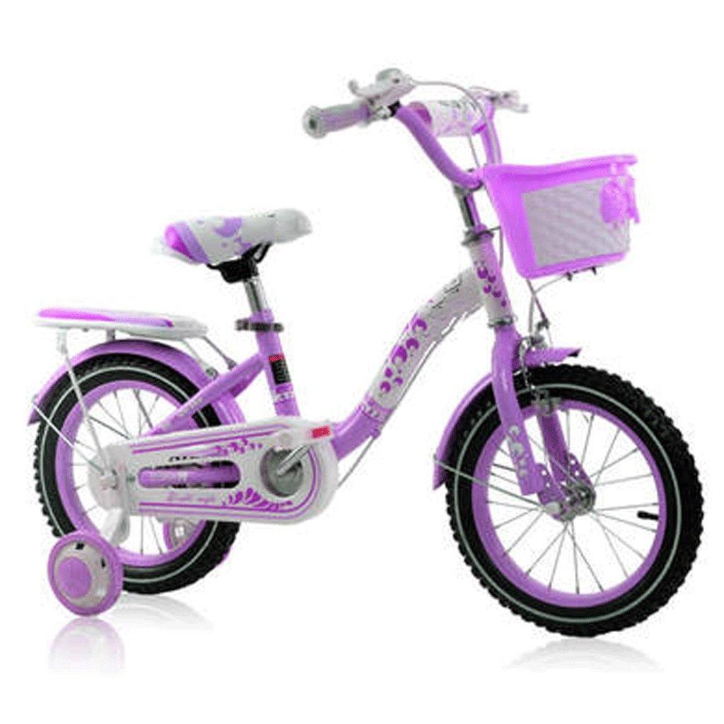 Duwen子供の自転車子供の自転車2 – 3 Years Old Princessバイク121416 /18インチBaby Girl Baby Stroller B07DRK4MVH   18inch