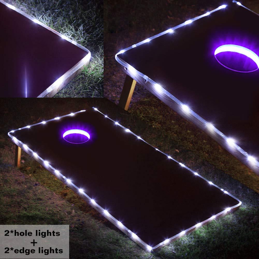 Blinngo Cornhole Board Lights, Waterproof LED Cornhole Lights, Cornhole Toss Game Set fit for Standard Cornhole Boards(4ft x 2ft) (Purple) by Blinngo