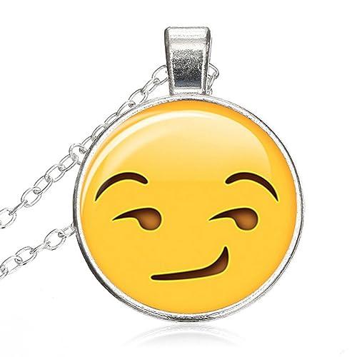 Amazon.com: Emoji Face - Collar con gemas de tiempo ...