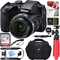 Nikon COOLPIX B500 16MP 40x Optical Zoom Digital Camera w/Built-in Wi-Fi NFC & Bluetooth (Black) + 16GB SDHC Accessory Bundle