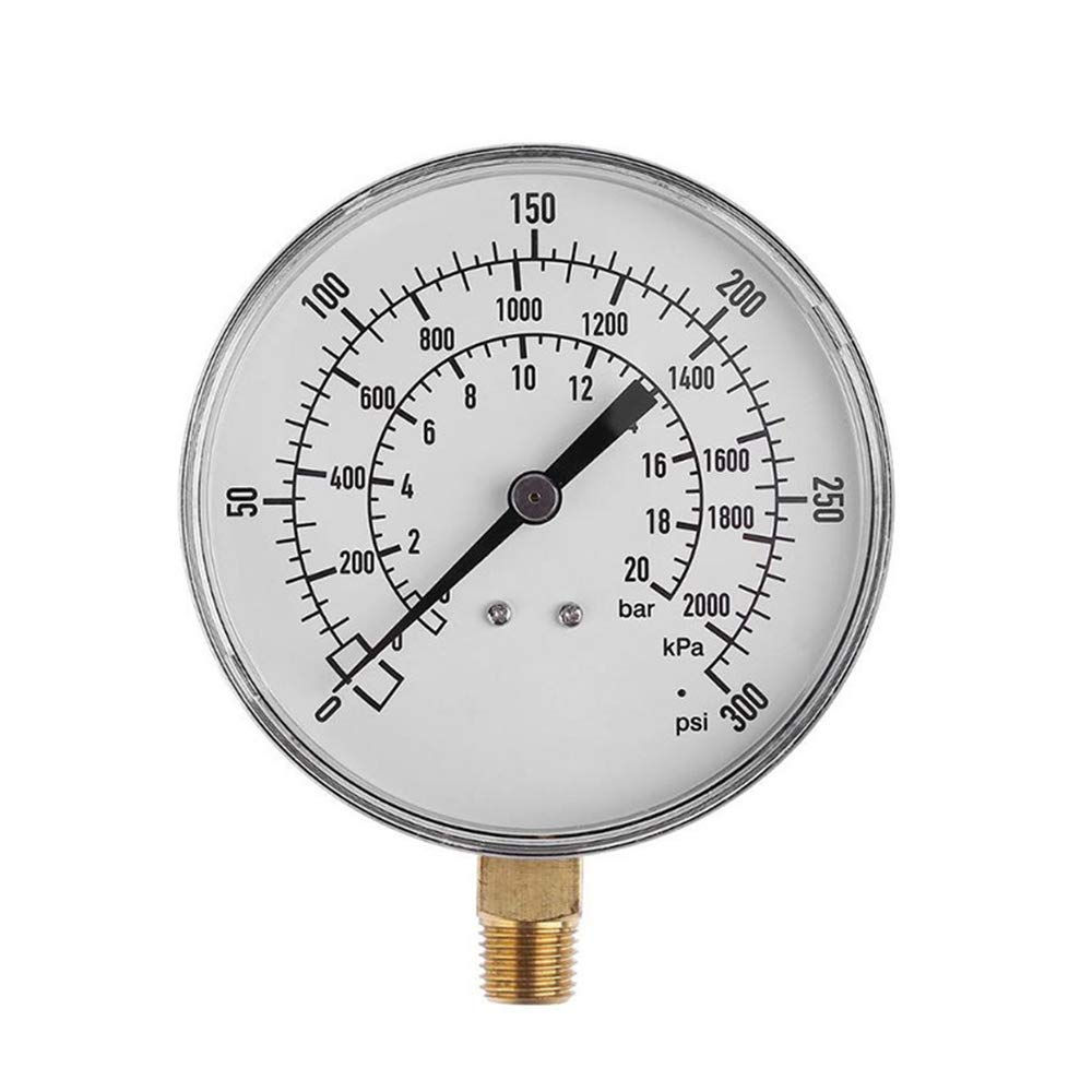 Happy nest Water Pressure Test Gauge Water Pressure Gauge for Water, Oil, Gas and Other Stress Tests by Happy nest