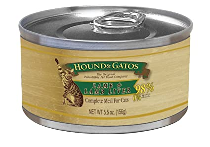Hound & Gatos Lamb Formula Canned Cat Food (Case Of 24, 5.5 Ounce Cans