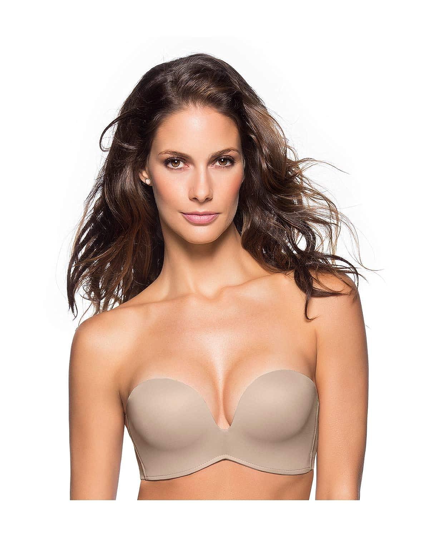 659f70cca8396 Leonisa Extreme Push Up Strapless Bra at Amazon Women s Clothing store  Bras