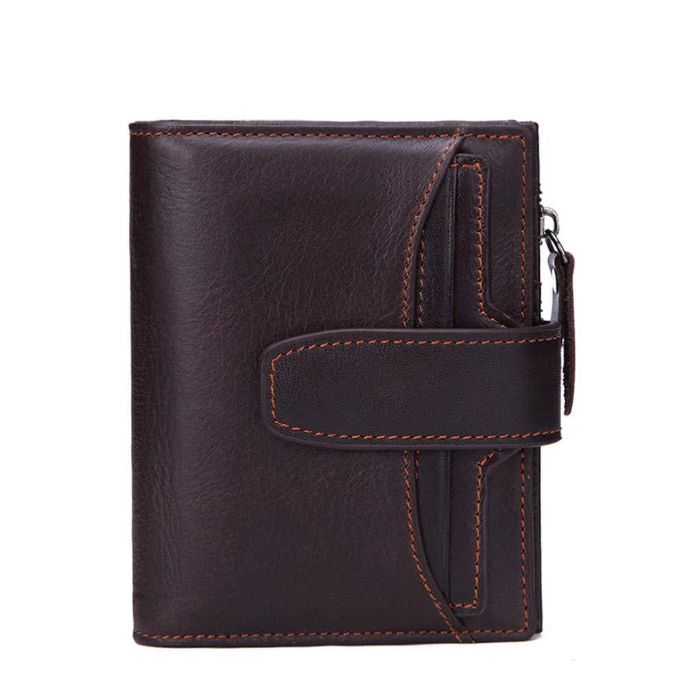 Xuanbao Herrenbrieftaschen FRID Anti-Theft Brush Wallet Wallet Wallet Herren Leder Geldbörse Kurze Geldbörse Krotitkarten-Geldbörse (Farbe   Kaffee) B07PYT8LMN Geldbrsen 4d4313
