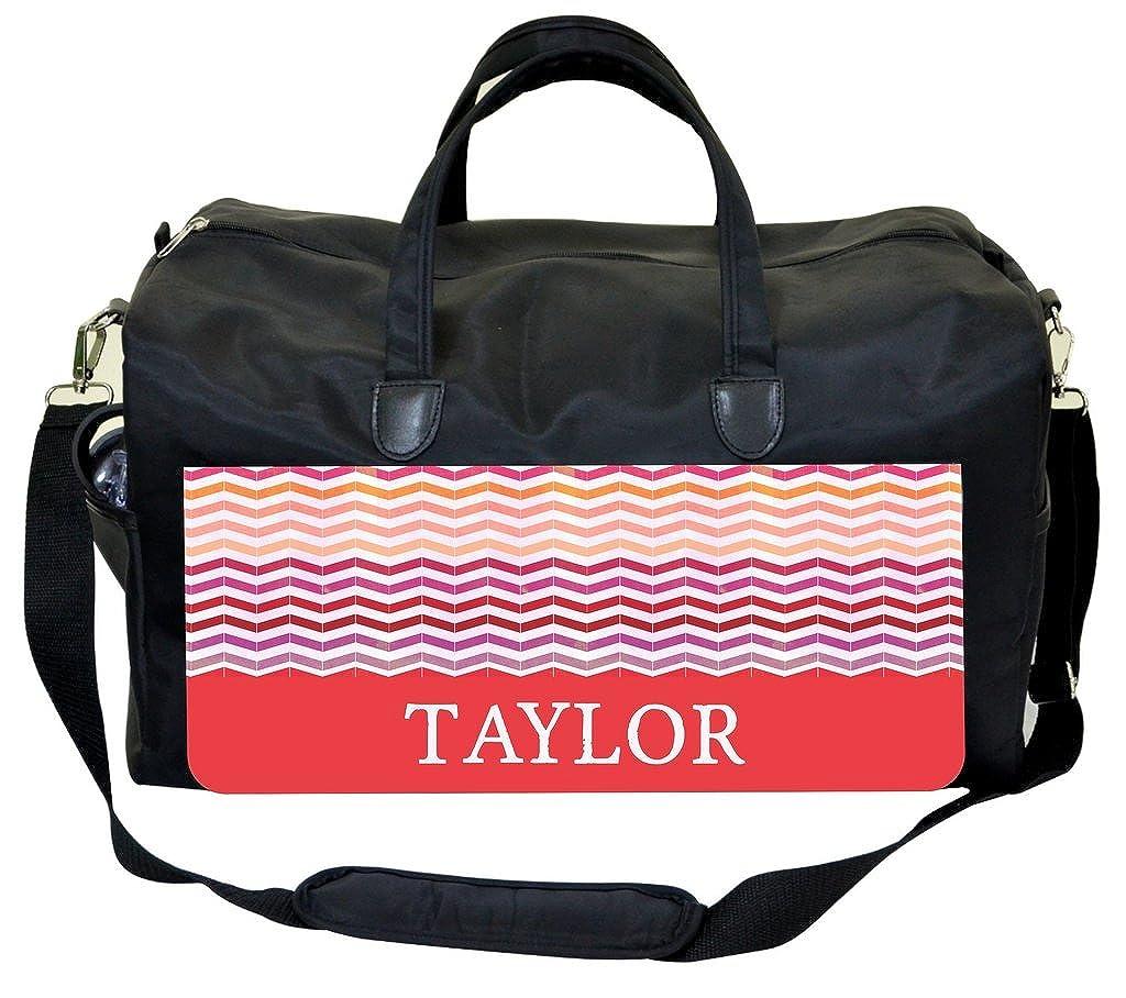 Colorblocked Grungy Chevrons Personalization Custom Therapist Bag