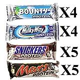 Mixed Box Protein Bars Mars, Milky Way, Snickers & Bounty 18 bars