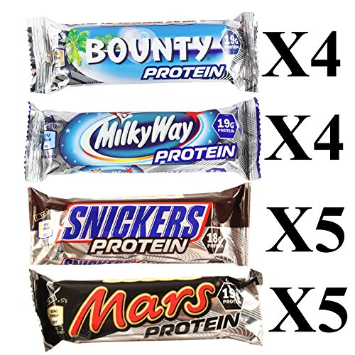 Mixed Box Protein Bars Mars, Milky Way, Snickers & Bounty 18 bars by Mars