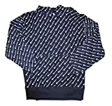 Champion Men's Reverse Weave All Over Script Hoodie, Navy, XX-Large