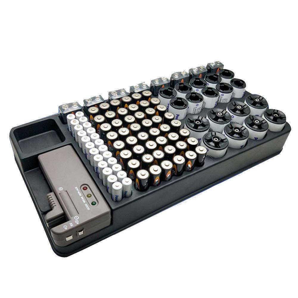 Bclaer72 Batterie-Organizer und Tester AA AAA Batterien-Aufbewahrungsbox mit Einem BT-168 LCD-Batterie-Tester
