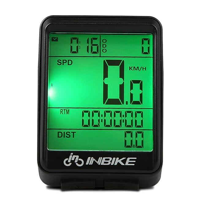 VORCOOL Ordenador de la bicicleta Velocímetro inalámbrico para bicicleta Cuentakilómetros de bicicleta a prueba de agua con pantalla LCD de luz de fondo de ...