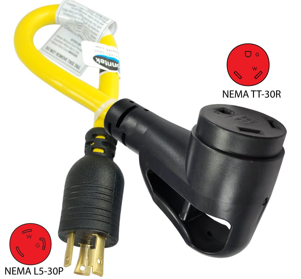 Conntek Rv Generator Adapter With 30 Amp 3 Prong Locking Plug Wire Diagram Male To Female Connector Automotive