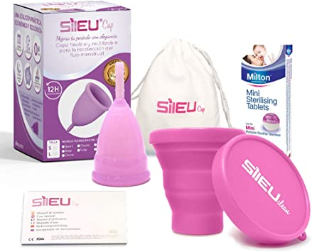 Copa Menstrual Sileu Cup Sport - Copa deportiva para deportes - 12 horas de protección sin fugas y
