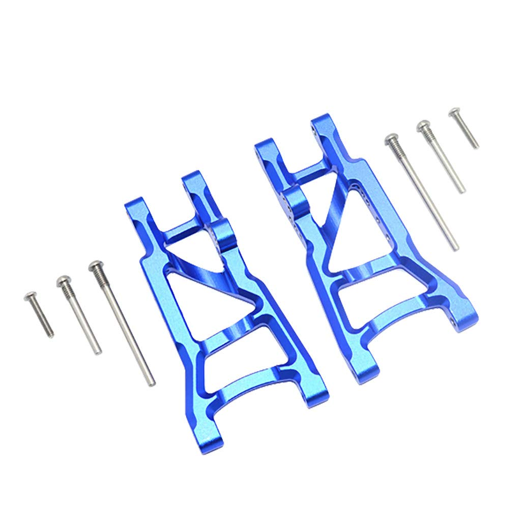 Binory Aluminum Rear Suspension A-Arms for Traxxas 1/10 Slash 2WD RC Car Upgrade Part(Blue)