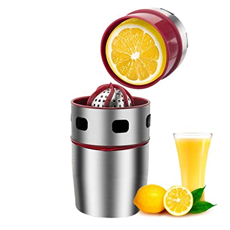 Pawaca Stainless Steel Manual Juicer,Lemon Squeezer,Home Use Manual Juicer for Oranges,