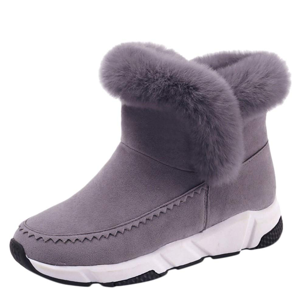 Snow Boots For Women, Tootu Winter Warm Flat Short Fur Bootie Round Toe Shoes TT-2121