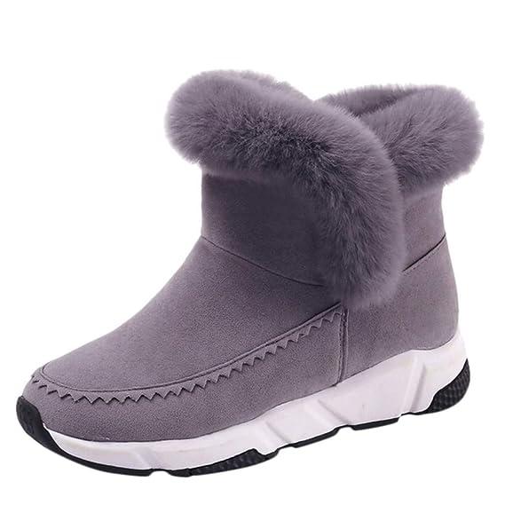 Mujer Botas de Nieve Zapatos Invierno Calientes Zapatillas Deportivas Moda Femenina Sólido Invierno Cálido de Piel Corta Corta Bootie Boots Zapatos de Punta ...