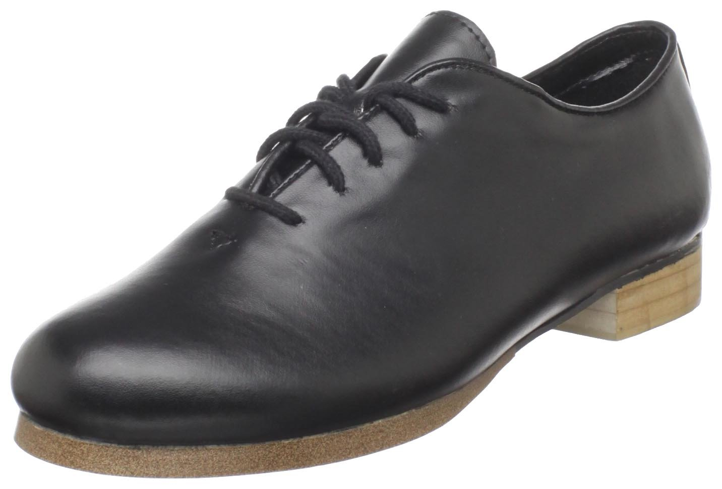 Dance Class Women's PCM201 Full Sole Jazz/Clogging Oxford,Black,8 W US