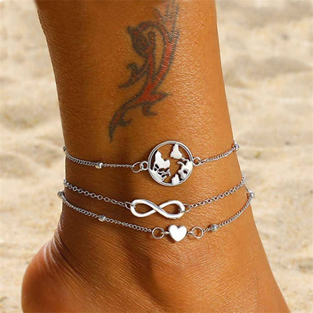 AGH950057A Hrain 2020///Multicouche Tortue Shell Perles Bracelets De Cheville pour Les Femmes Lune Soleil Vintage Plage Corde Cheville Bracelet sur La Jambe D/ét/é Pied Bijoux