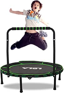 """LBLA Trampoline for Kids 36"""" Foldable Kids Trampoline with Adjustable Handrail Safty Padded Cover Indoor/Outdoor Use for Children 3 4 5 6 7 8 9+Years Old"""