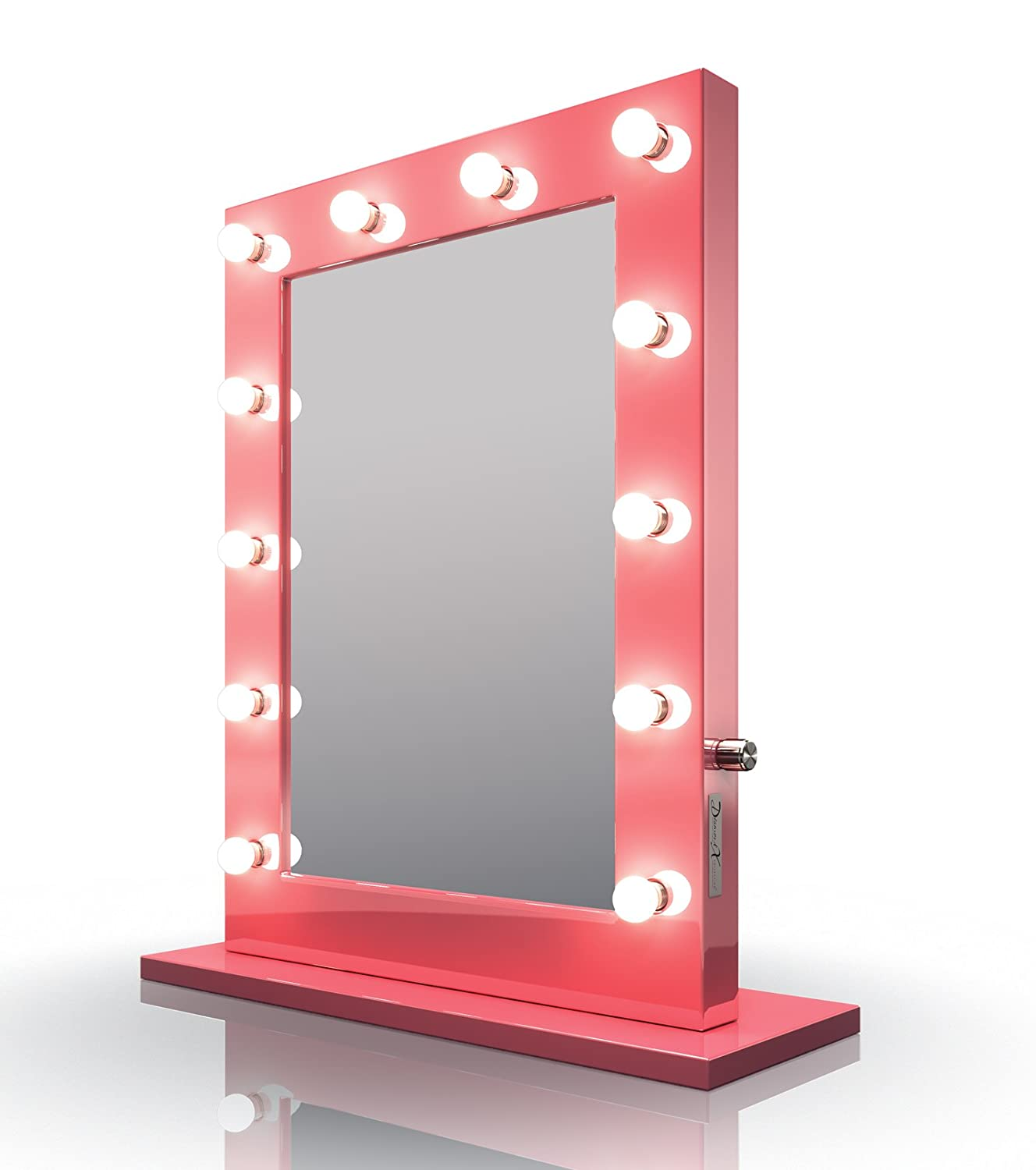 Powerful Visions Diamond X Pink Hollywood Make-up Spiegel mit Cool weiß dimmbar LED k153cw