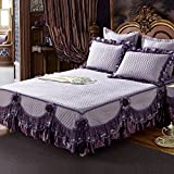 GX&XD Bed skirt cotton lace bedspread european style bed cover sheet-D 180x200cm(71x79inch)