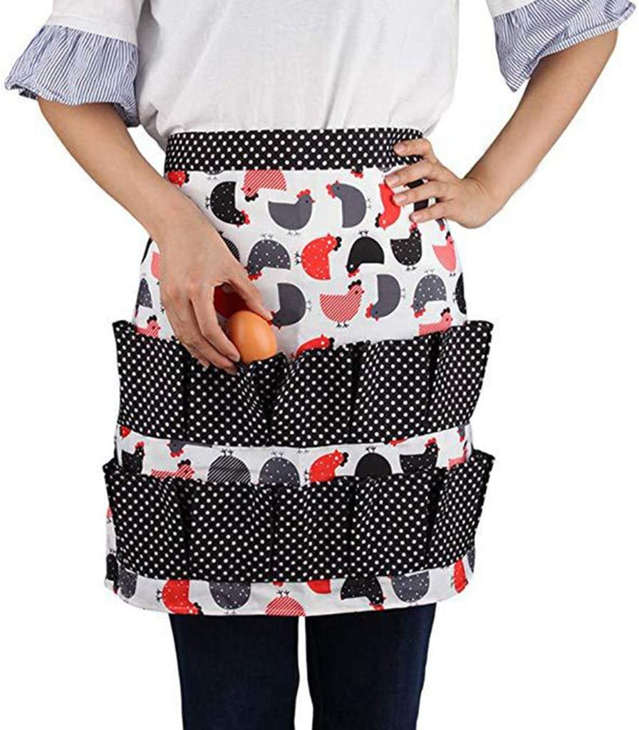 SportHome Egg Collecting Apron Pockets Holds Chicken Farmhouse Farm Home Waterproof Pinafore
