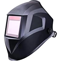 "Pro Welding Helmet with Highest Optical Class (1/1/1/1), Larger Viewing Area(3.94""x2.87""), Wide Shade Range DIN 3/4-8/9-13, 6Pcs Replacement Lenses, Grinding Feature for TIG MIG MMA Plasma - PAH03D"