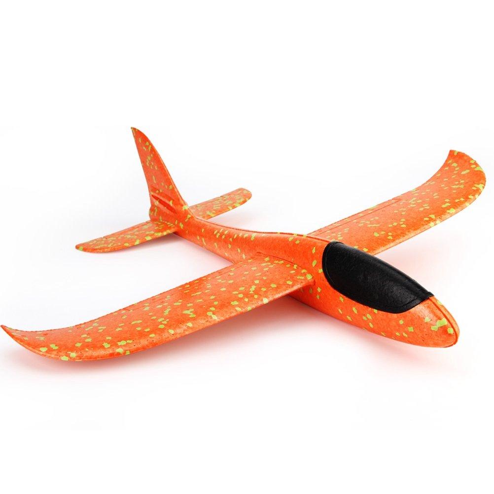 YeahiBaby Segelflugzeug Gleitflugzeuge Styroporflieger f/ür Kinder Jungen M/ädchen Spielzeug Orange