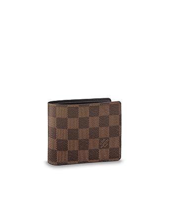 aaba246122 Louis Vuitton Damier Ebene Canvas Multiple Wallet N60895 at Amazon Men's  Clothing store: