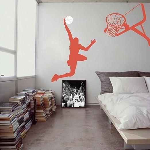 Baloncesto vinilo pared adhesivo jugador de baloncesto de pared de ...