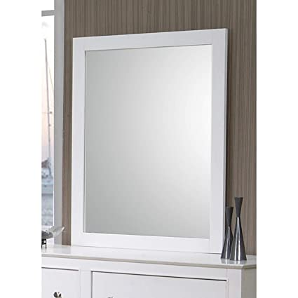 Amazon.com: Svitlife Company Selena White Wood Mirror Mirror Wood ...