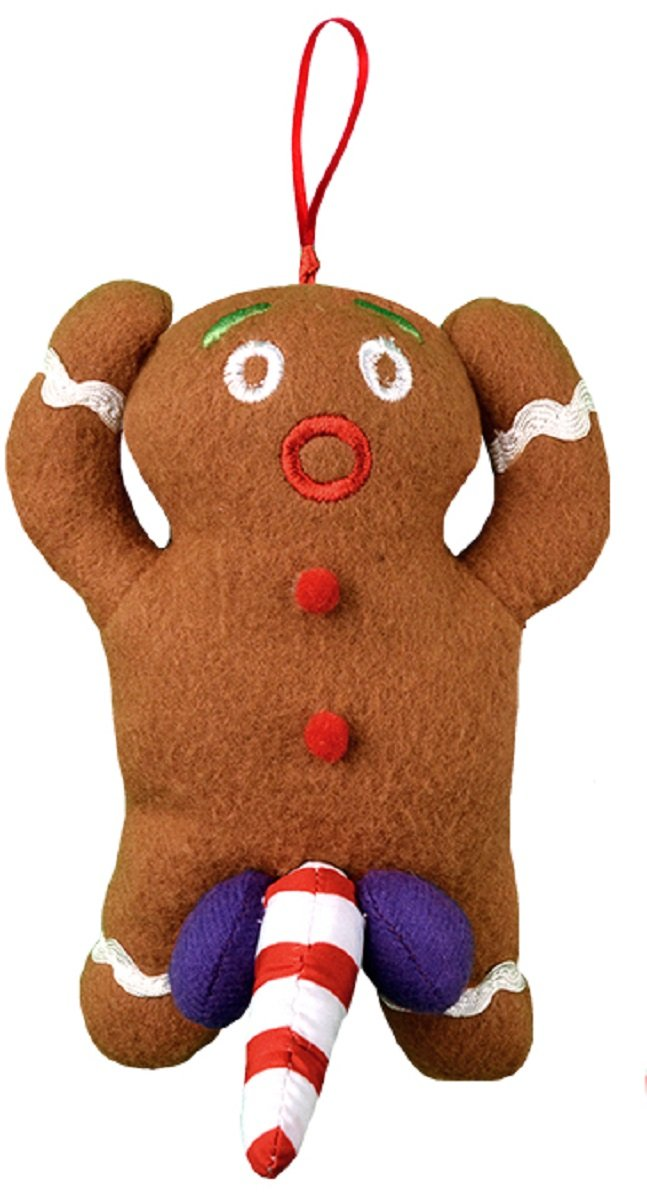 Amazon.com: Naughty Dirty Talking Gingerbread Man Christmas Tree Ornament  and Gag Gift: Home & Kitchen