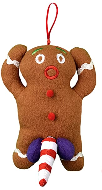 Naughty Dirty Talking Gingerbread Man Christmas Tree Ornament and Gag Gift - Amazon.com: Naughty Dirty Talking Gingerbread Man Christmas Tree